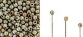 Finial beads zijn ronde kralen met een half geboord gat en is te koop bij kralenwinkel Limited Edition in Den Haag in de kleur 02010-65455.