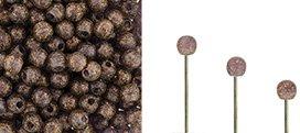 Finial beads zijn ronde kralen met een half geboord gat en is te koop bij kralenwinkel Limited Edition in Den Haag in de kleur 20510-79411.