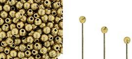 Finial beads zijn ronde kralen met een half geboord gat en is te koop bij kralenwinkel Limited Edition in Den Haag.