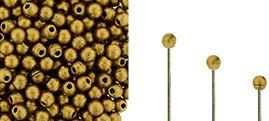 Finial beads zijn ronde kralen met een half geboord gat en is te koop bij kralenwinkel Limited Edition in Den Haag in de kleur 23980-01740.