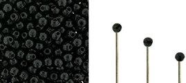 Finial beads zijn ronde kralen met een half geboord gat en is te koop bij kralenwinkel Limited Edition in Den Haag in de kleur 23980.