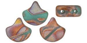 De Ginko glas kraal van Matubo heeft twee gaten en is te koop bij kralenwinkel Limited Edition in Den Haag in de kleur 27173BA.