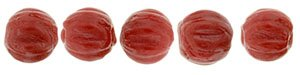De melon glaskraal is een ronde kraal met inkepingen, is 3mm groot en te koop bij kralenwinkel Limited Edition in de kleur 93200.