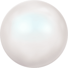 Deze glasparel van 3mm van Swarovski is te koop bij kralenwinkel Limited Edition in Den Haag in de kleur Crystal Pearlescent White Pearl.