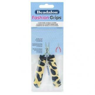 Deze Fashion Grip Tool Covers van Beadalon kun je om de meeste handvaten van kleine tangen doen en zijn te koop bij kralenwinkel Limited Edition in Den Haag.