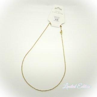 Deze rvs ketting is 45cm lang en is te koop bij kralenwinkel Limited Edition Den Haag.