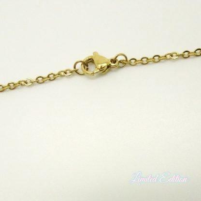 Deze rvs ketting is 50cm lang en is te koop bij kralenwinkel Limited Edition Den Haag.