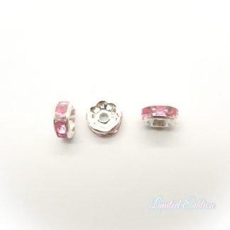 Deze Strass Rondelle zijn te koop bij kralenwinkel Limited Edition in Den Haag in de kleur Rose.