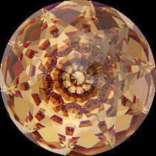 Deze Dome round van swarovski is te koop bij kralenwinkel Limited Edition in Den Haag in de kleur Light Colorado Topaz.