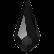 De 6000 drop pendant van Swarovski heeft een gat en is te koop bij kralen winkel Limited Edition in Den Haag in de kleur Jet.