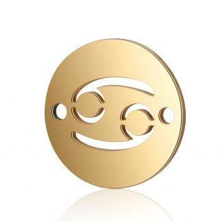 Dit tussenstuk van roestvrijstaal is te koop bij kralenwinkel Limited Edition in Den Haag in de kleur goud in de vorm Kreeft.