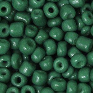 Deze leuke budget rocailles zijn ideaal om hippe sieraden te maken en zijn te koop bij kralenwinkel Limited Edition in Den Haag in de kleur donker groen.
