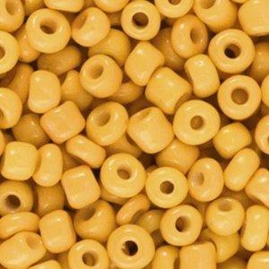 Deze leuke budget rocailles zijn ideaal om hippe sieraden te maken en zijn te koop bij kralenwinkel Limited Edition in Den Haag in de kleur zonnebloem geel.