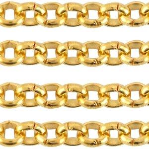 Deze DQ jasseron ketting is te koop bij kralenwinkel Limited Edition in Den Haag in de maat 3.5mm in de kleur goud.