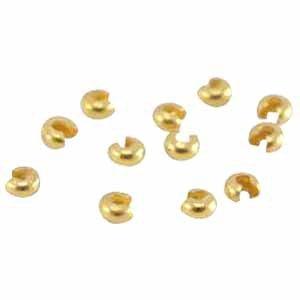 Deze DQ knijpkraal verbergers zijn ideaal om je sieraden netjes mee af te werken en zijn te koop bij kralenwinkel Limited Edition in de maat 4mm in de kleur goud.