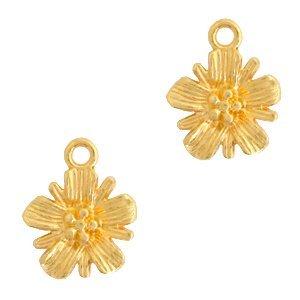 Deze bedel van Designer Quality in de vorm van een bloem zijn te koop bij kralenwinkel Limited Edition in Den Haag.