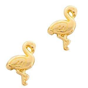 Deze gouden flamingo kraal van DQ kwaliteit is te koop bij kralenwinkel Limited Edition in Den Haag.