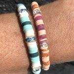 De onderdelen voor de deze leuke armband met Katsuki kralen en Strass Rondellen zijn te koop bij kralenwinkel Limited Edition in Den Haag.