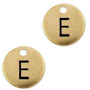 EDeze Designer Quality bedel met een initiaal er op is te koop bij kralenwinkel Limited Edition in de kleur antiek brons in de letter .