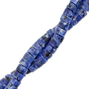 Deze natuursteen kralen zijn 4mm en te koop bij kralenwinkel Limited Edition in Den Haag in de kleur donker blauw marmer.
