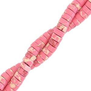 Deze natuursteen kralen zijn 4mm en te koop bij kralenwinkel Limited Edition in Den Haag in de kleur roze marmer.