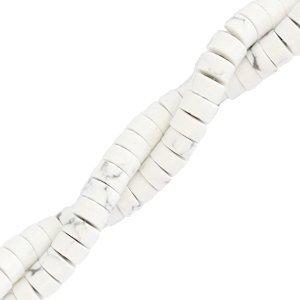Deze natuursteen kralen zijn 4mm en te koop bij kralenwinkel Limited Edition in Den Haag in de kleur wit marmer.
