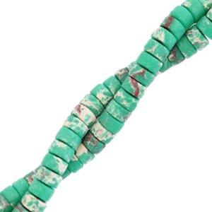 Deze natuursteen kralen zijn 4mm en te koop bij kralenwinkel Limited Edition in Den Haag in de kleur emerald groen marmer.