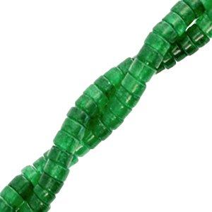 Deze natuursteen kralen zijn 4mm en te koop bij kralenwinkel Limited Edition in Den Haag in de kleur donker groen.