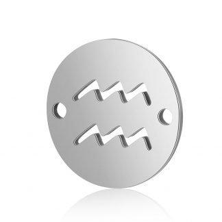 Dit tussenstuk van roestvrijstaal is te koop bij kralenwinkel Limited Edition in Den Haag in de kleur zilver in de vorm Waterman.