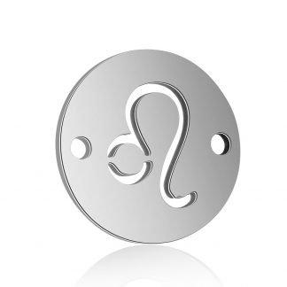 Dit tussenstuk van roestvrijstaal is te koop bij kralenwinkel Limited Edition in Den Haag in de kleur zilver in de vorm Leeuw.