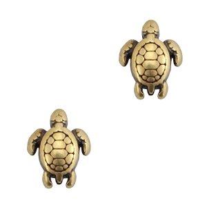Deze gouden schildpad kraal van DQ kwaliteit is te koop bij kralenwinkel Limited Edition in Den Haag.