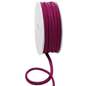 Dit elastichse gestikte Ibiza 5mm lint is te koop bij kralenwinkel Limited Edition in Den Haag in de kleur Bordeaux.