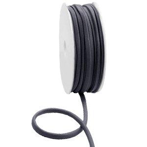 dDit elastichse gestikte Ibiza 5mm lint is te koop bij kralenwinkel Limited Edition in Den Haag in de kleur donker grijs.