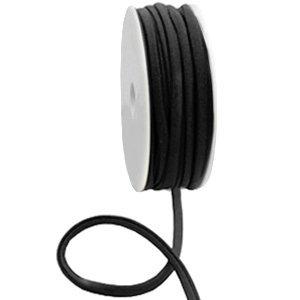Dit elastichse gestikte Ibiza 5mm lint is te koop bij kralenwinkel Limited Edition in Den Haag in de kleur zwart.