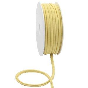 Dit elastichse gestikte Ibiza 5mm lint is te koop bij kralenwinkel Limited Edition in Den Haag in de kleur Geel goud.