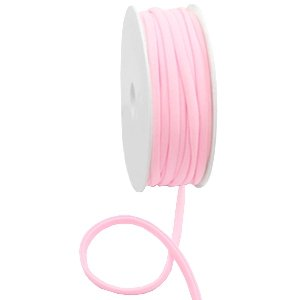 Dit elastichse gestikte Ibiza 5mm lint is te koop bij kralenwinkel Limited Edition in Den Haag in de kleur Licht roze.