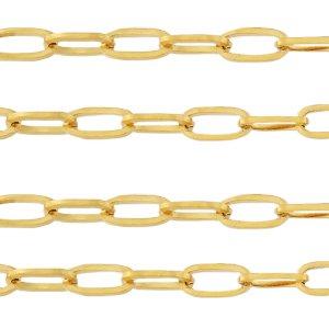 Deze RVS schakel ketting is te koop bij kralenwinkel Limited Edition in Den Haag in de maat 10x4mm in de kleur goud.
