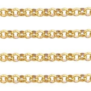 Deze RVS ronde jasseron ketting is te koop bij kralenwinkel Limited Edition in Den Haag in de maat 2mm in de kleur goud.