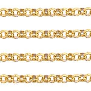 Deze RVS ronde jasseron ketting is te koop bij kralenwinkel Limited Edition in Den Haag in de maat 3mm in de kleur goud.