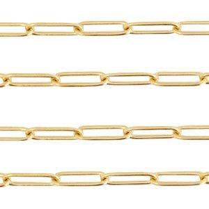 Deze RVS schakel ketting is te koop bij kralenwinkel Limited Edition in Den Haag in de maat 11x3mm in de kleur goud.