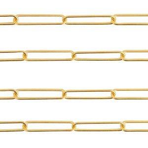 Deze RVS schakel ketting is te koop bij kralenwinkel Limited Edition in Den Haag in de maat 20x5mm in de kleur goud.