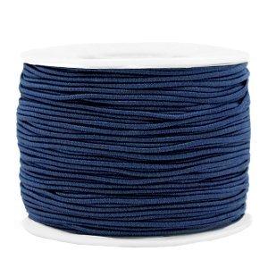 Dit gekleurde elastiek is 1,2mm dik en is te koop bij kralenwinkel Limited Edition in Den Haag in de kleur donker blauw.