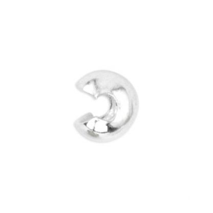 Deze Beadalon knijpkraal verbergers zijn ideaal om je sieraden netjes mee af te werken en zijn te koop bij kralenwinkel Limited Edition in de maat 4mm in 925 sterling zilver.