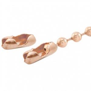 Dit slotje van BQ rose goud past op 2mm ball chain en is te koop bij kralenwinkel Limited Edition in Den Haag.