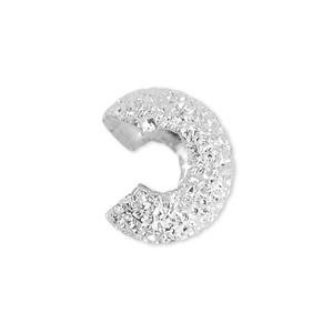 Deze Beadalon knijpkraal verbergers zijn ideaal om je sieraden netjes mee af te werken en zijn te koop bij kralenwinkel Limited Edition in de maat 4mm glitter in de kleur zilver.