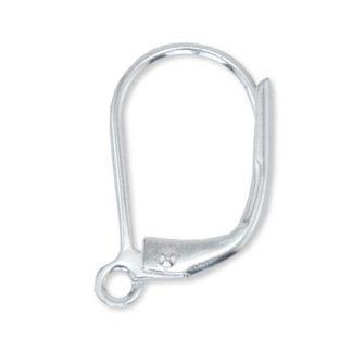 Deze oorbelhaakjes van Beadalon zijn te koop bij kralenwinkel Limited Edition in de maat 15x1mm in de kleur zilver.