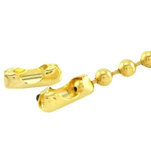 Dit slotje van DQ goud past op 1.2mm ball chain en is te koop bij kralenwinkel Limited Edition in Den Haag.