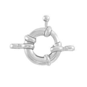 Dit boei slot van DQ metaal is te koop bij kralenwinkel Limited Edition in Den Haag in de maat 13mm in de kleur zilver.