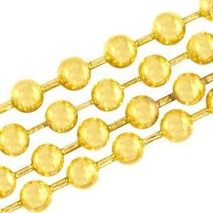 Dit ballchain van DQ goud is 2mm dik en is te koop bij kralenwinkel Limited Edition in Den Haag.