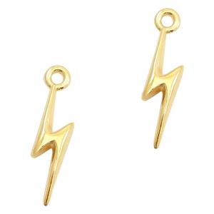 Deze bedel van Designer Quality in de vorm van een bliksemflits zijn te koop bij kralenwinkel Limited Edition in Den Haag.